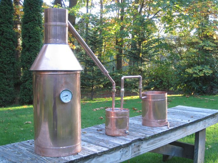 Traditional American Copper Moonshine Still — Olympic Distillers