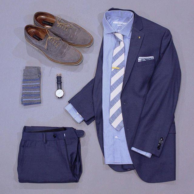 Outfit grid - Blue suit