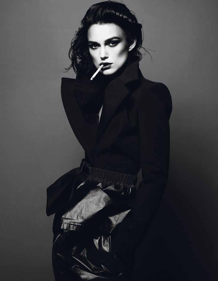 Keira Knightley in Balenciaga by Nicolas Ghesquière for Interview Magazine April 2012. Photographed by Mert Alas and Marcus Piggott, styled by Karl Templer.