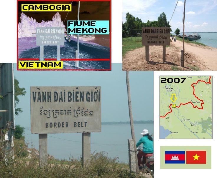 Confini amministrativi - Riigipiirid - Political borders - 国境 - 边界: 2007 KH-VN Kambodža-Vietnam SV Cambogia-Vietnam RD...