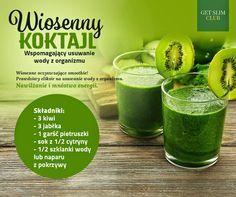 Zielone koktajle: kiwi + jabłko + pietruszka + cytryna