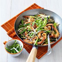 garnalen met groenten en rijst ww