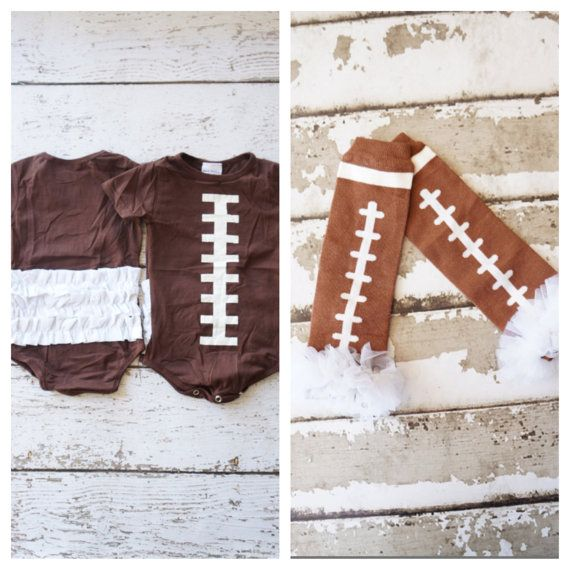 Football Ruffle ONesie and leg warmer set - superbowl baby outfit - Football outfit - Girls outfits - Thanksgiving outfit - ONesie -Baby