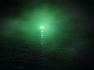 """I chose the green light because I think that it is a big symbol in the novel, as it gives Gatsby hope that one day Daisy will return to him. The quote I chose to represent the green light was """" If it wasn't for the mist, we could see your home across the bay"""" Gatsby said """" You always have a green light that burns all night at the end of your dock""""  page: 98"""