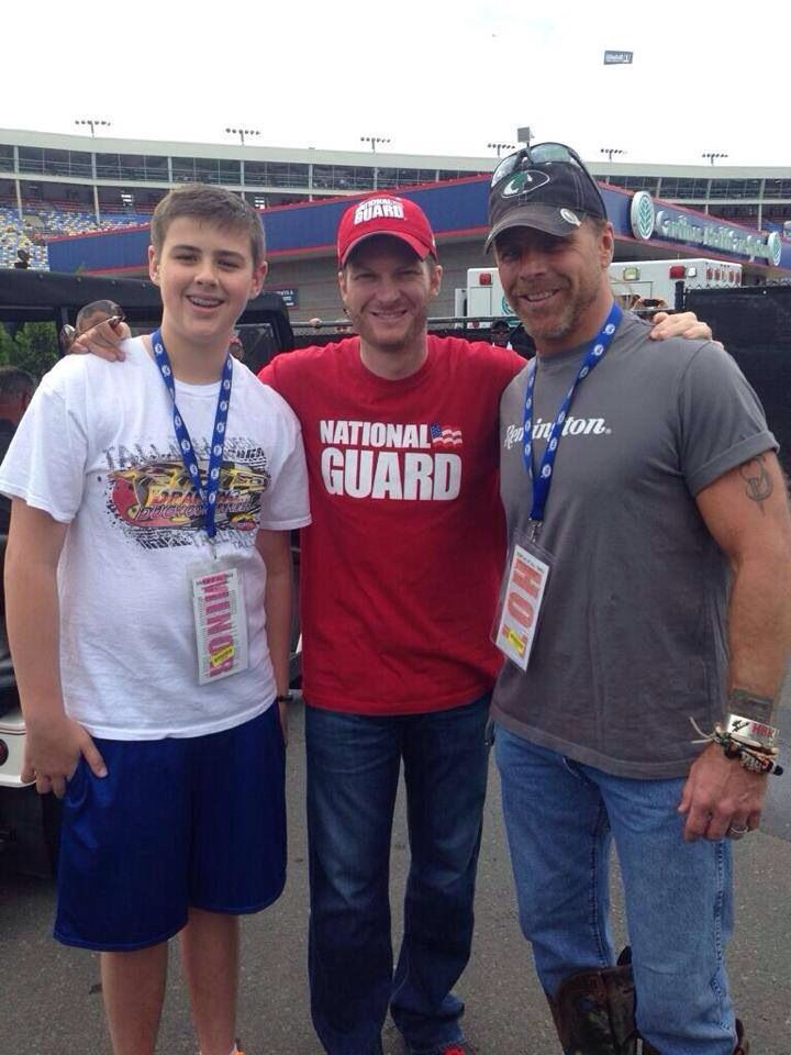 Dale Jr With Shawn Michaels And His Son At The All Star