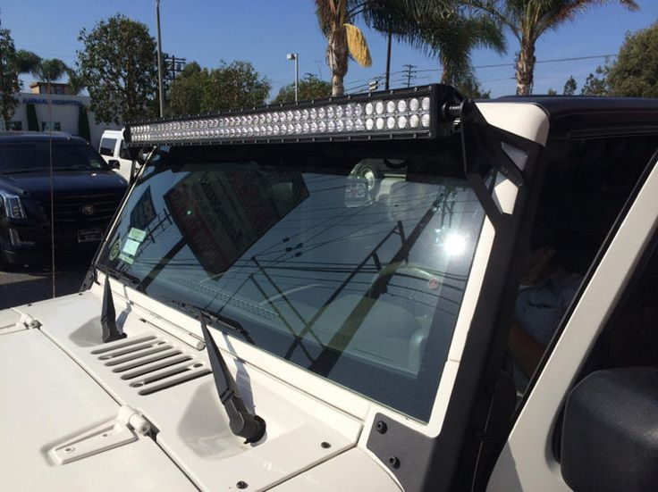 2010 Jeep Wrangler Unlimited Sport StormTrooper Edition - Detailed shot of the LED light bar.