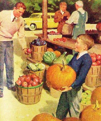 Autumn Fun - detail from 1958 Ethyl ad.