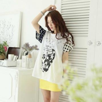 Korean FASHION Top Short Sleeve Top「koreabuys.com」