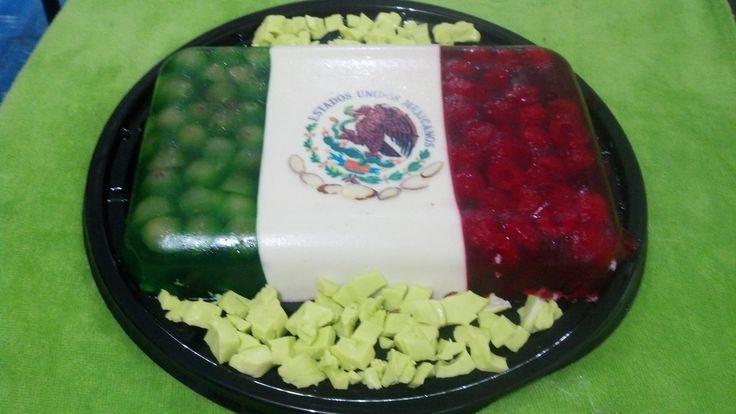 Una Gelatina Alusiva A Nuestras Fiestas Patrias Mexicanas