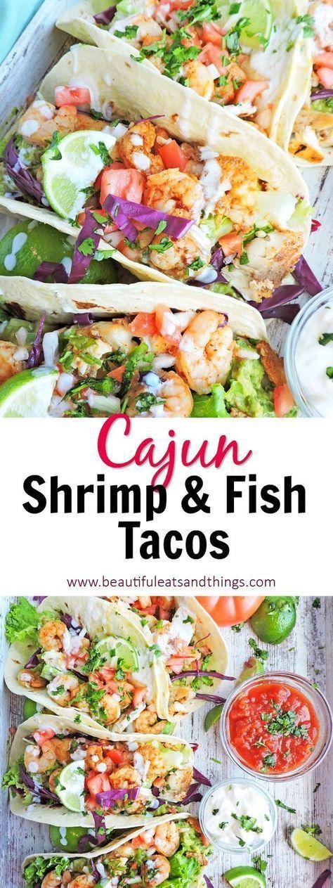 Cajun Shrimp and Fish Tacos – #Cajun #Fish #shrimp #Tacos