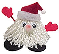 Santa Yarn Craft - make variation and use as ornament.