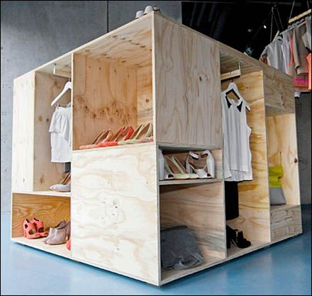 Pop-Up Plywood Crate for Retail Merchandising