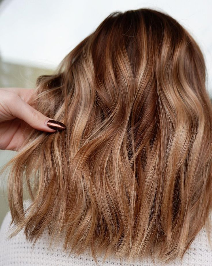 Kupfer, golden, honigblond balayage Haarfarbe #haircolor #blondes #balayage –  #