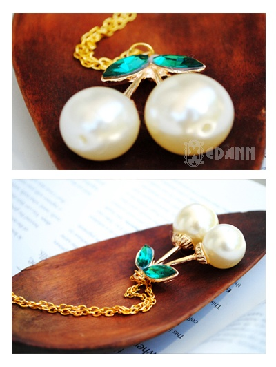 Cherry Pearl Golden Chain - Php 130