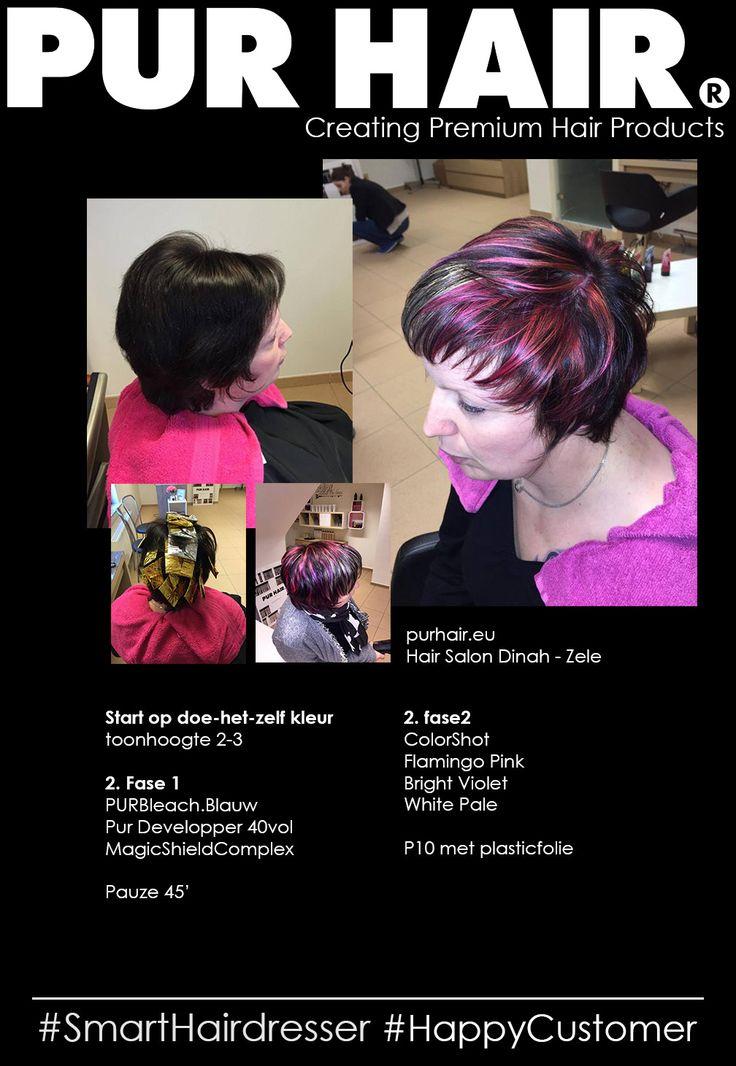 Pur Hair World - Inspiraties #purhair #SmartHairdresser #HappyCustomer #HairSalonDinah #Zele