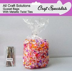 Clear cellophane gusset bags *all #sizes* #crafts / sweets / gifts / #party,  View more on the LINK: 	http://www.zeppy.io/product/gb/2/131299598013/