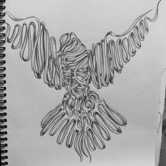 Bird pattern sketch. Drawing art ideas