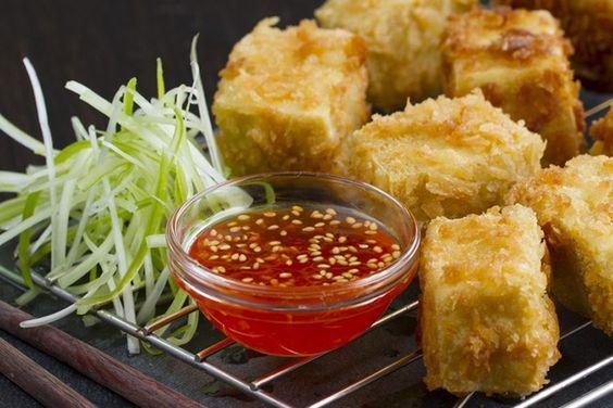 salsa agridulce, tofu frito, receta de tofu, cocina asiatica