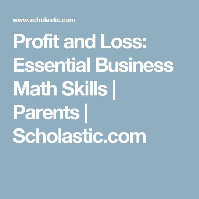 Profit and Loss: Essential Business Math Skills | Parents | Scholastic.com