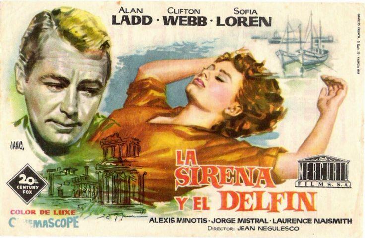 La sirena y el delfín [Material gráfico] / Jano ; director cinematográfico Jean Negulesco.-- Valencia : Gráficas Valencia, D. L. 1959.  Signatura CAR / 1693