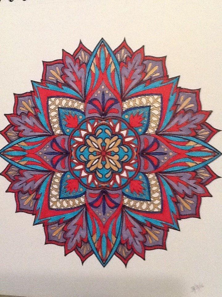 ColorIt Mandalas to Color Volume 1 Colorist: Nancy Mejia #adultcoloring #coloringforadults #mandalas #mandala #coloringpages