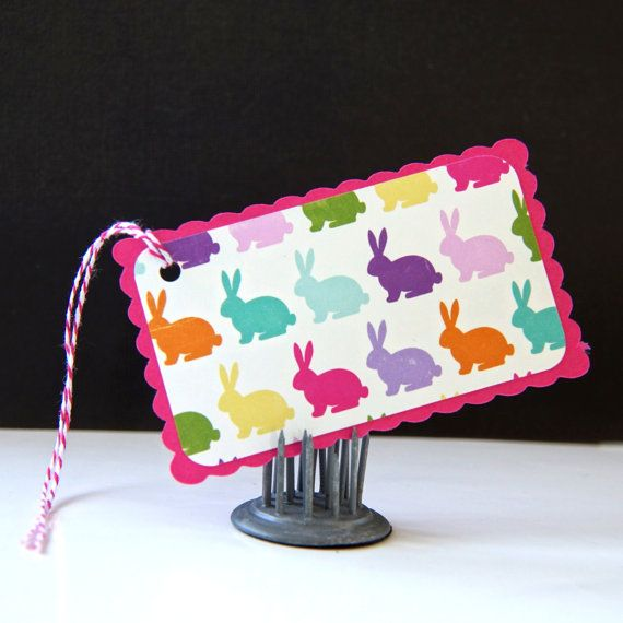 Hippity Hoppity Bunnies Easter Tags or Package Labels by scrapbits