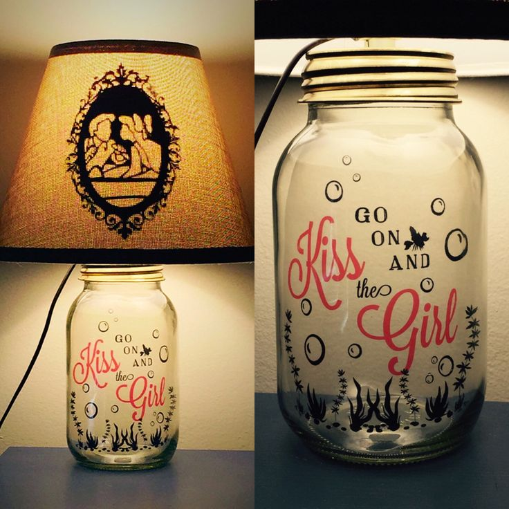Ariel and Eric Inspired Mason Jar Character Lamp by PracPerfCrafts on Etsy https://www.etsy.com/listing/239952694/ariel-and-eric-inspired-mason-jar