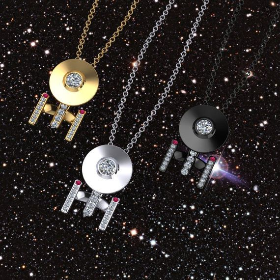 Boldly Going Around Your Neck by PaulMichaelDesign on Etsy, $290.00 - sterling silver/black. I may swoon. It's ALL KIRSTEN'S FAULT.