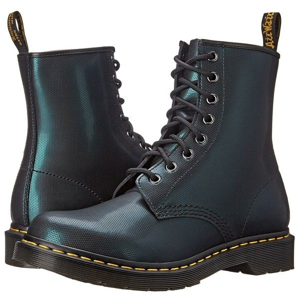 Dr. Martens 1460 Women's Lace-up Boots ($125) ❤ liked on Polyvore featuring shoes, boots, genuine leather boots, platform boots, laced boots, dr martens boots and lace up shoes