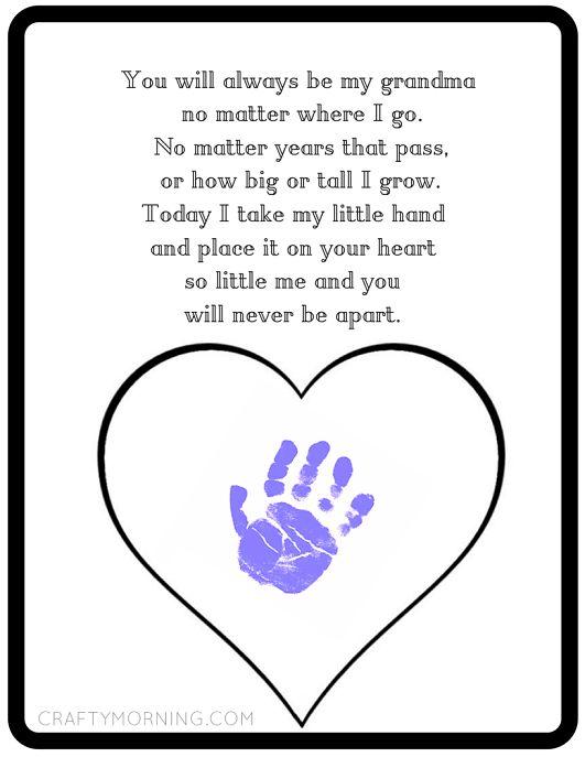 Never Be Apart Grandma Poem Printable - Crafty Morning