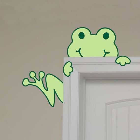 Hey, I found this really awesome Etsy listing at https://www.etsy.com/listing/83481110/children-wall-decal-frog-peeking-hugging