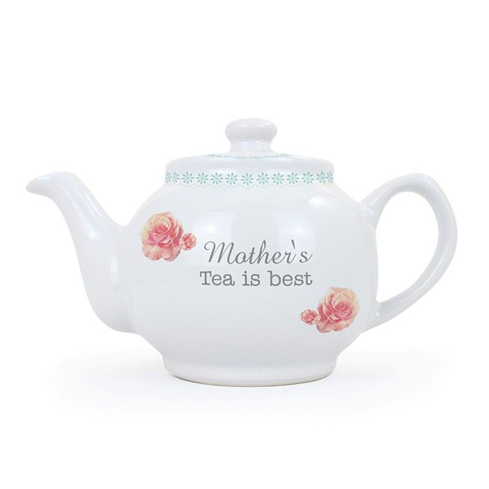 Personalised Vintage Rose Small Teapot
