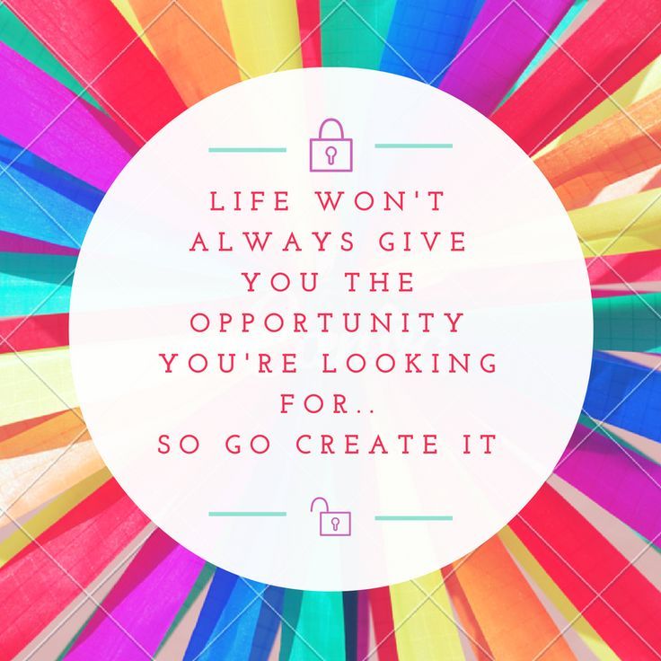 Life won't always give you the opportunity you're looking for... So go create it  #opportunities