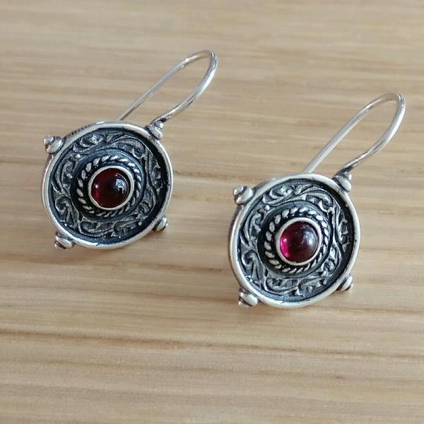 Mystique Amber Silver Earrings