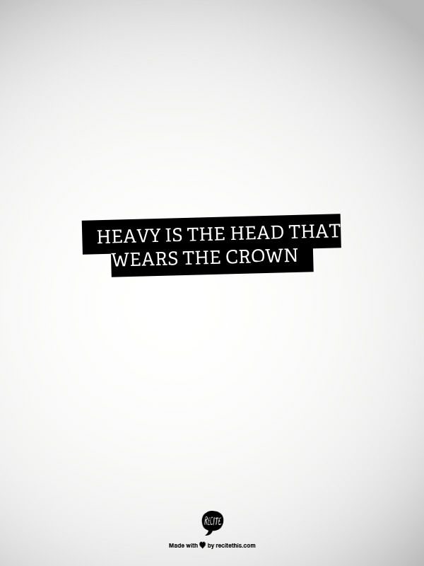 Heavy is the heart that it weighs down~NM