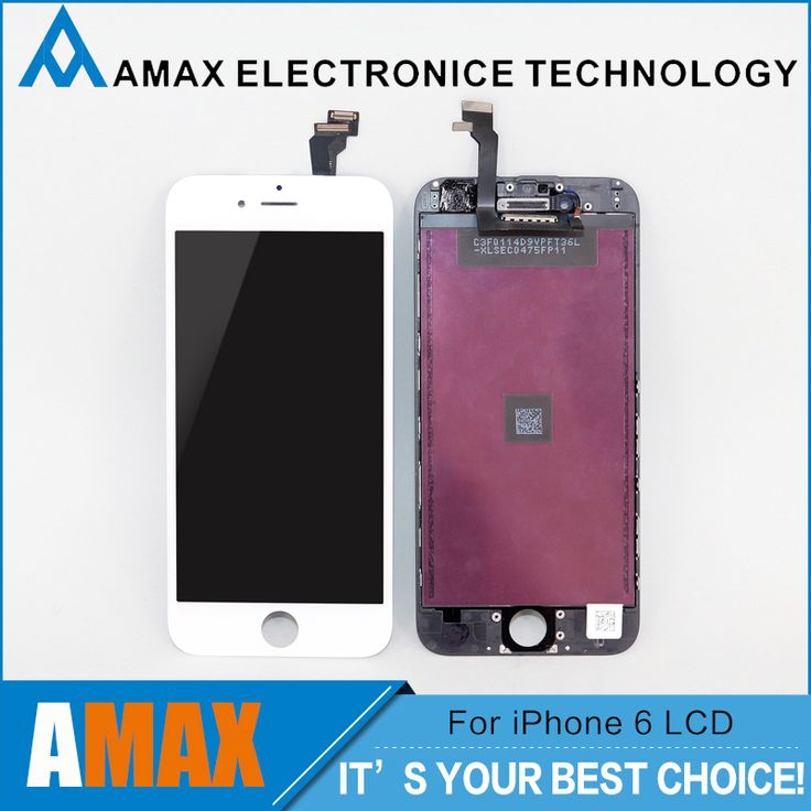 10 pcs/lot tidak ada tempat aaa + untuk iphone 6 lcd penuh perakitan dengan Penggantian Lensa Layar Pantalla Hitam Putih Gratis DHL pengiriman