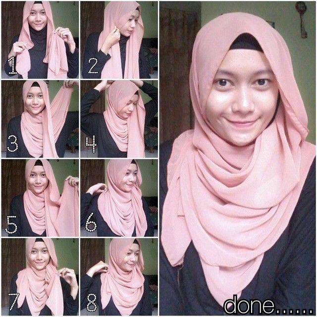 Tutorial Hijab Pashmina SIfon Terbaru dan Modis