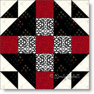 MRS. KELLER'S NINE PATCH quilt block pattern