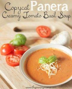 Copycat Panera Creamy Tomato Basil Soup