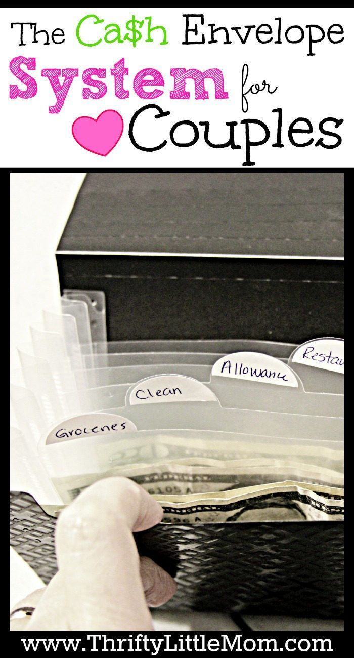 The Cash Envelope System for couples. 2 can budget this way!