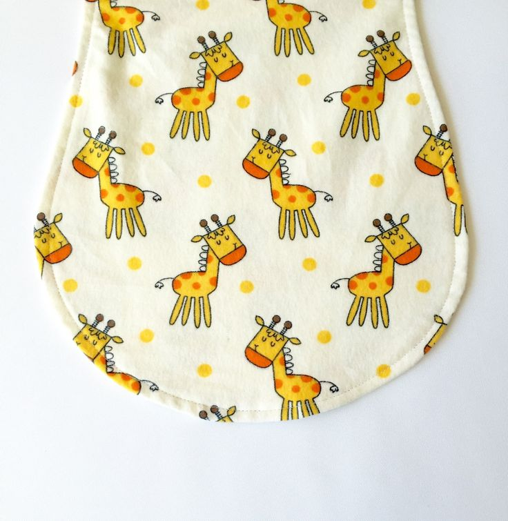 Giraffe Baby Burp Cloth, Baby Burp Pad, Giraffe Burp Cloth, Gender Neutral Burp Pad by SewAuntieSew on Etsy