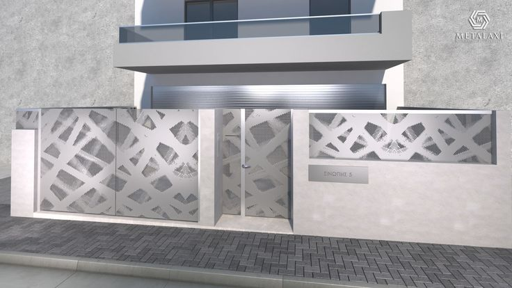 ENTRANCE GATE - ΑΥΛΟΠΟΡΤΑ Metalaxi Entrace gate made of perforated aluminium with a unique pattern. Life is in the details. Metalaxi Innovative Architectural Products. www.metalaxi.com