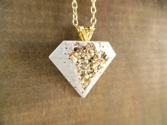 Concrete Necklace Moonrock jewelry concrete jewelry by BlueSouth