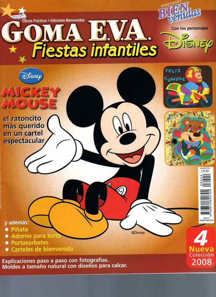 Revistas de Foamy gratis: Moldes mickey mouse en foamy