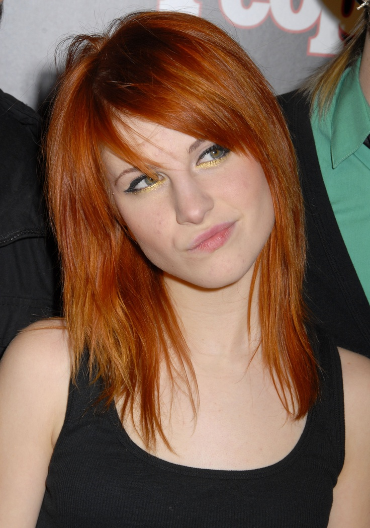 Hayley Williams- I love her hair  makeup right here :) we've always done our makeup similar, too cool X)