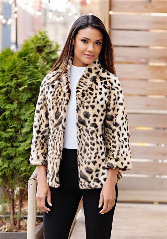 6064aa590f8b Perfect Little Leopard Faux Fur Jacket | Womens Faux Fur - Donna Salyers  Fabulous Furs