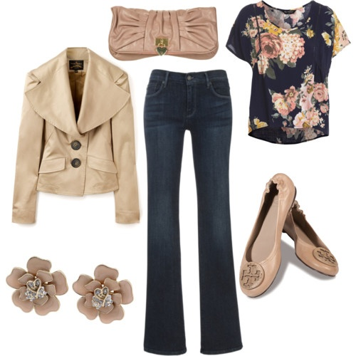 So cute!: Floral Tops, Floral Prints, Casual Friday, Floral Outfits, Fall Wear, Fall Outfits, Comfy Casual, Floral Shirts, Casual Clothing