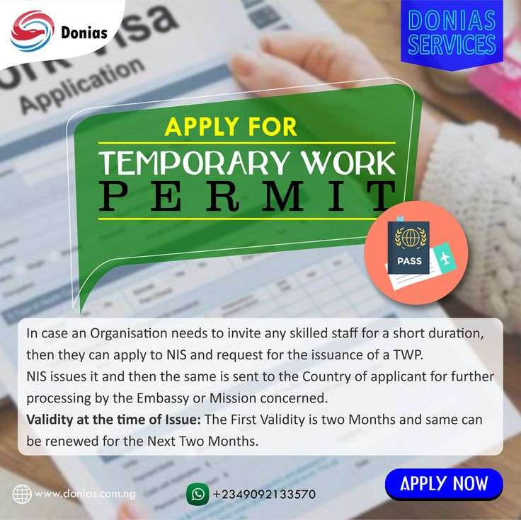 Apply for temporary work permit with just a single click