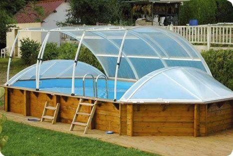 piscine en bois hors sol couverte - Amenagement Piscine Bois Hors Sol