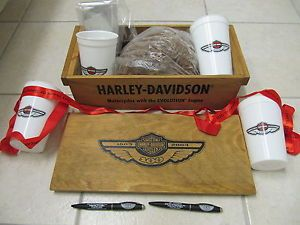 2003 Harley Dealer 100 Year 100th Anniversary Pine Wood Create Tool Box Pen Cup | eBay